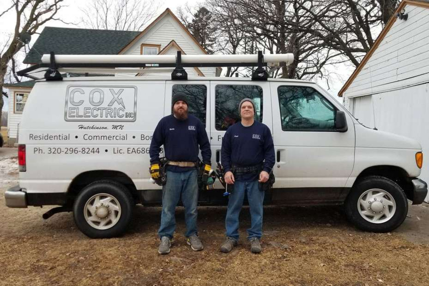 Chad and Jamie Cox, electricians in MN.