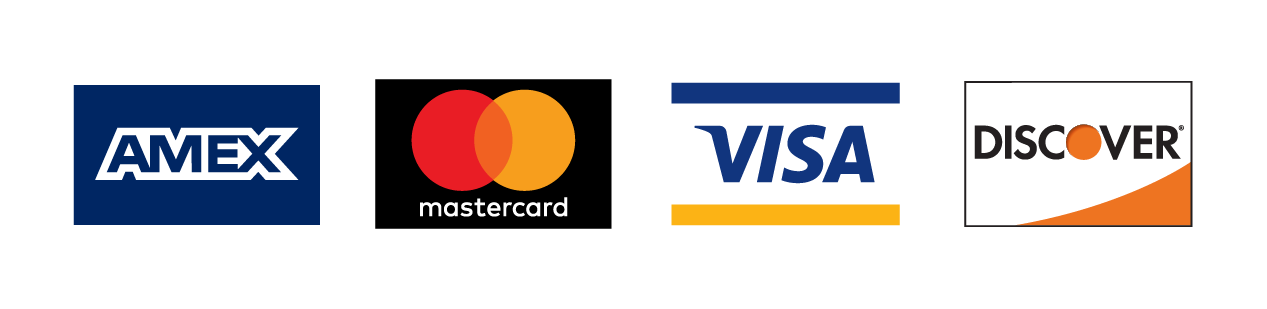 Mastercard and Visa credit cards accepted.